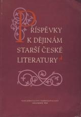 FOTO: Příspěvky k dějinám starší české literatury