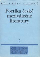 FOTO: Poetika české meziválečné literatury