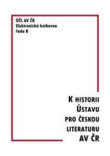 FOTO: K historii Ústavu pro českou literaturu AV ČR